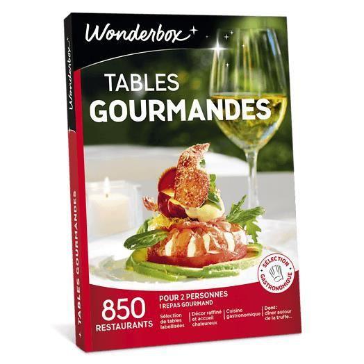 Wonderbox Coffret Cadeau Tables Gourmandes 850 Restaurants