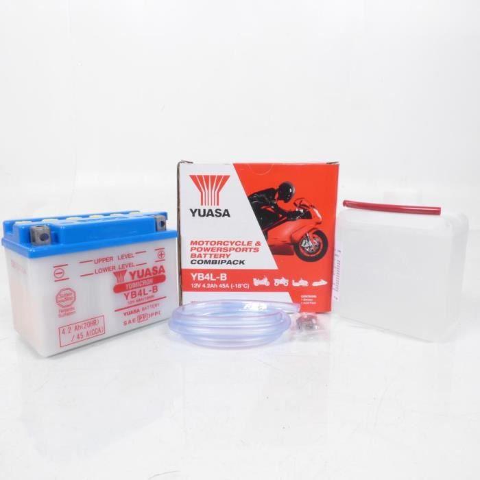 Batterie Kyoto YB4L-B avec acide pour scooter MBK Rocket 50