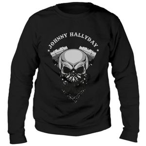 SWEATSHIRT Sweat Biker Johnny Hallyday - Noir
