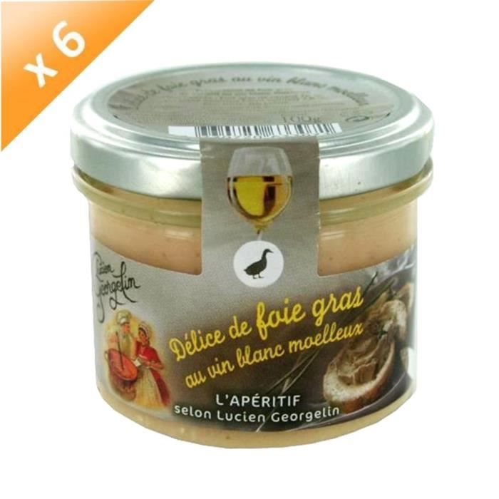 lucien georgelin d lice de foie gras au vin blanc moelleux 6x100g achat vente biscuits. Black Bedroom Furniture Sets. Home Design Ideas