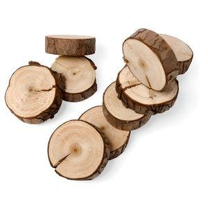 Décors de table 10 rondins de bois naturel 5cm