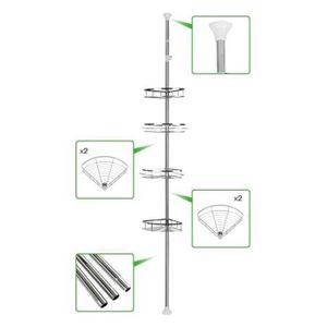 FIXATION - SUPPORT TV Noir Support Mural Pour Lecteur DVD avec 2 étagère