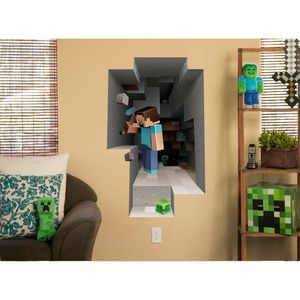 stickers minecraft achat vente stickers minecraft pas cher les soldes sur cdiscount. Black Bedroom Furniture Sets. Home Design Ideas