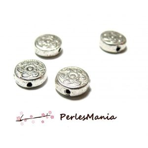 Gros Lots Perles intercalaire Rond Couleur moins brillant 6x5mm