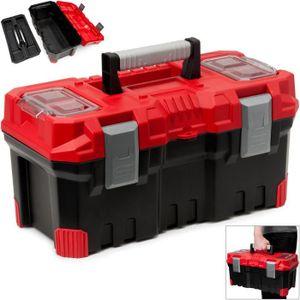 BOITE A OUTILS Coffre à outils Rouge/Noir 490x260x240mm Plastique