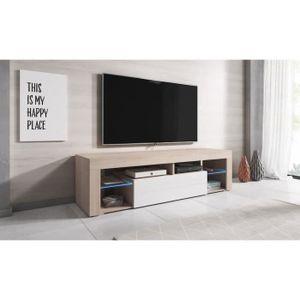 MEUBLE TV Titan Meuble TV contemporain décor - Chêne (Sonoma