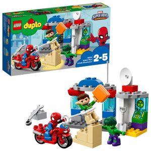 ASSEMBLAGE CONSTRUCTION Lego Duplo Super Heroes Spider-Man et Hulk Adventu
