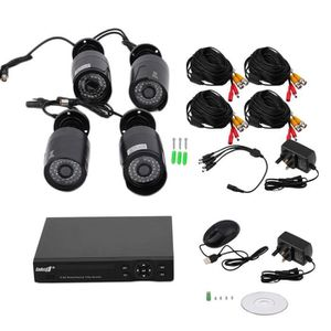 CAMÉRA DE SURVEILLANCE 4 pcs HD 960P Caméras 1.3MP de sécurité avec DVR +