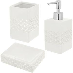 4 pièces ensemble accessoire de salle de bain en céramique ...