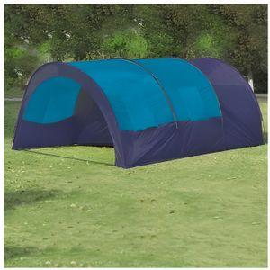 TENTE DE CAMPING Superbe Tente dôme familiale 6 places bleue