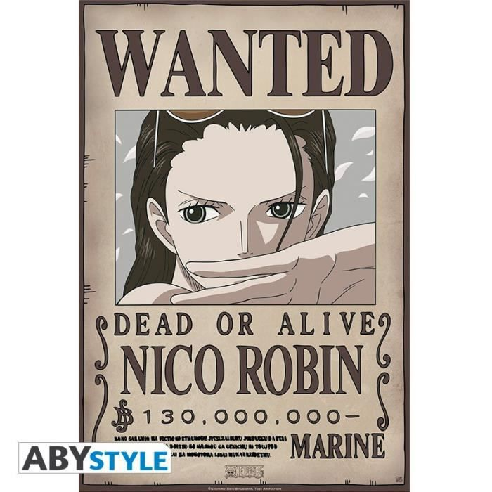 ONE PIECE - Poster -Wanted Robin New- (52x35)