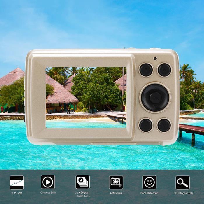 Caméscope à détection de visage anti-tremblement pour appareil photo numérique 2.4HD