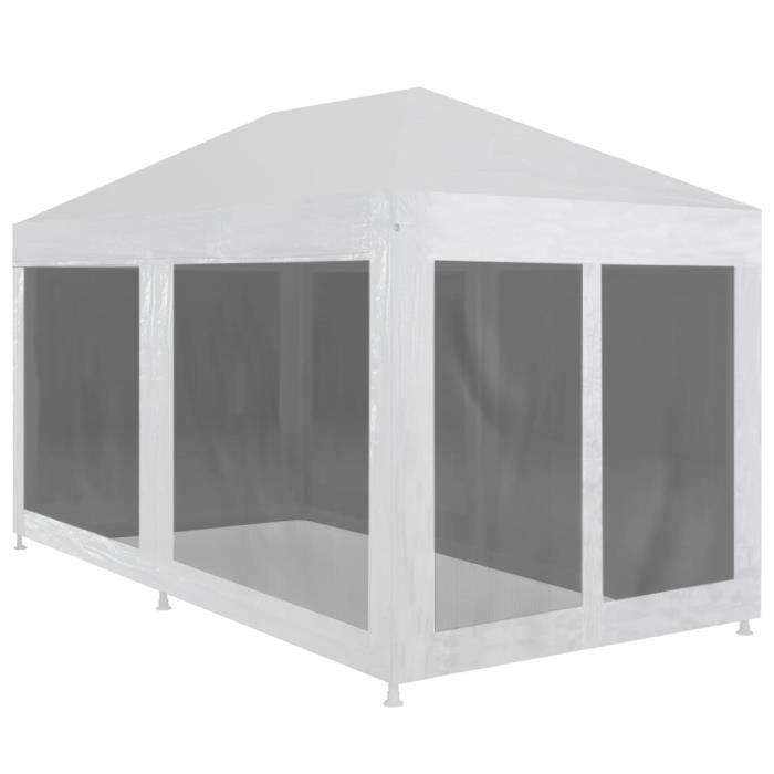 Tente de réception avec 6 parois en maille 4x3 m