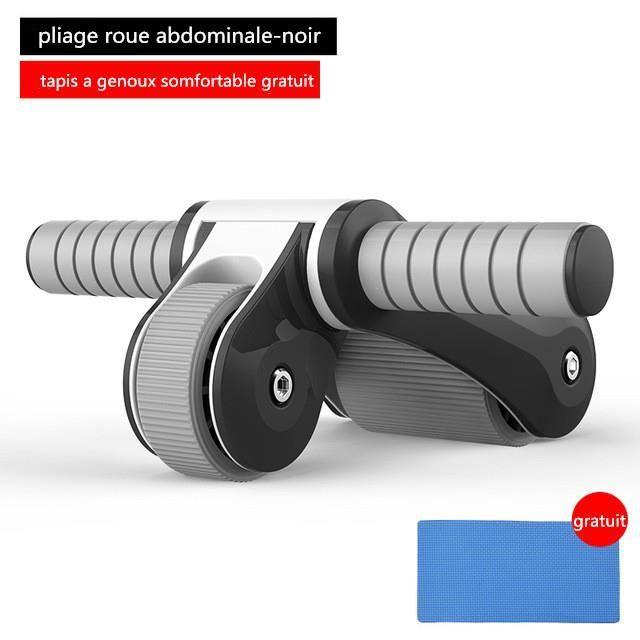 Équipement de rouleau de forme physique pliable d'exercice abdominal de forme physique d'abs