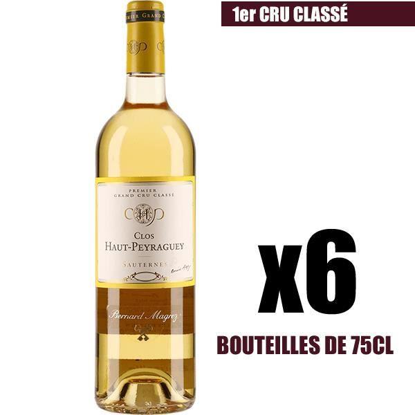 X6 Clos Haut-Peyraguey 2012 75 cl AOC Sauternes 1er Cru Classé Vin Blanc Liquoreux