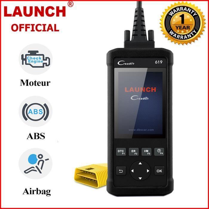 Launch CR619 Valise Diagnostic OBD2 Scanner Outil de Diagnostic Vérification du moteur ABS Scanner Airbag Valise de Diagnostic