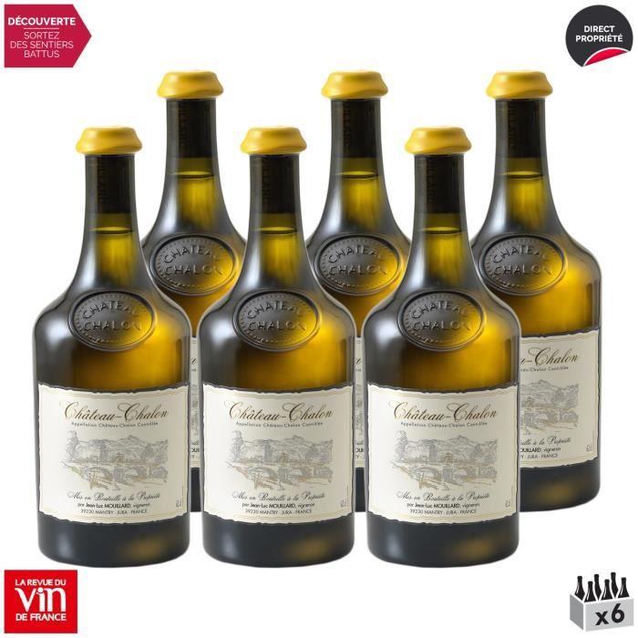 Château-Chalon Vin jaune Blanc 2013 - Lot de 6x62cl - Domaine Jean-Luc Mouillard - Vin AOC Blanc du Jura - 92-100 La Revue du Vin de