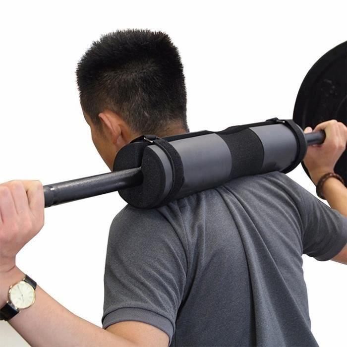Barbell squat cou et épaulettes de protection épaule éponge Noir