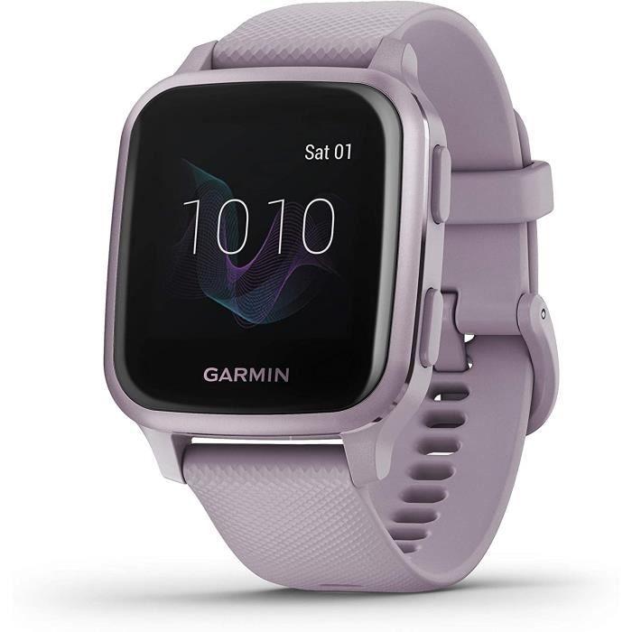 Garmin Venu Sq Montre GPS de sport connectée santé et bien-être - Lavande