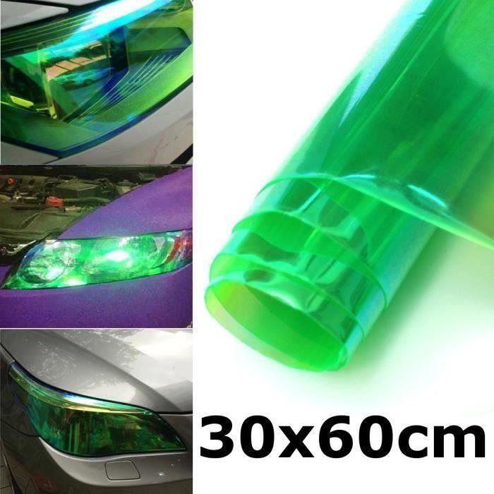 2pcs 30x60cm Film Protection Feux Teinté Vinyle Autocollant Car Auto VERT