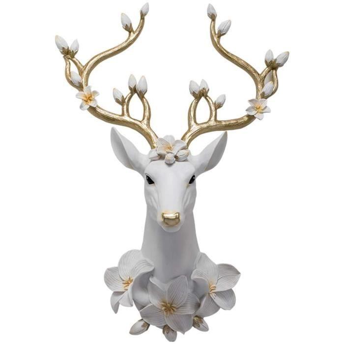 Tete De Cerf Murale Tridimensionnel Tête Animal Créatif Cerf Décoration Murale De Tête KTV Bar Sculptures Décoratives Objets 280