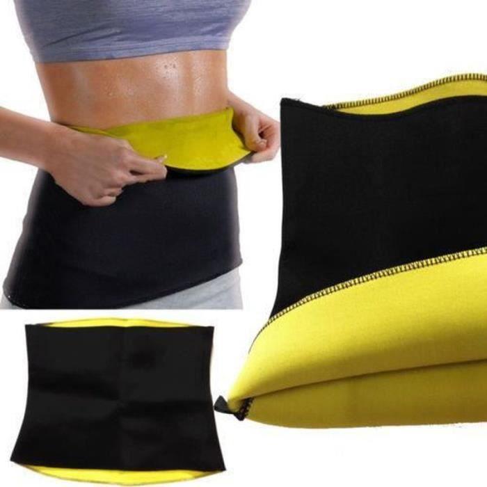 DB15290-VINUS Hot sauna minceur ceinture taille wrap shaper brûler les graisses en calories ventre perdre du poids XL