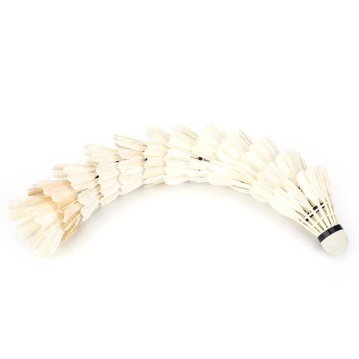 Volant en plumes blanches, boule de badminton, pour équipement d'entraînement de sports de plein air Équipement de badminton pour