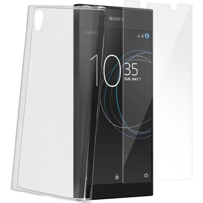 Pack de protection Coque + Film verre trempé Sony Xperia L1