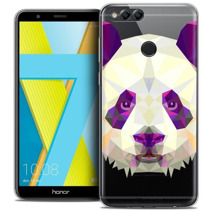 Coque Gel Honor 7X (5.9 ) Extra Fine Polygon Animals - Panda