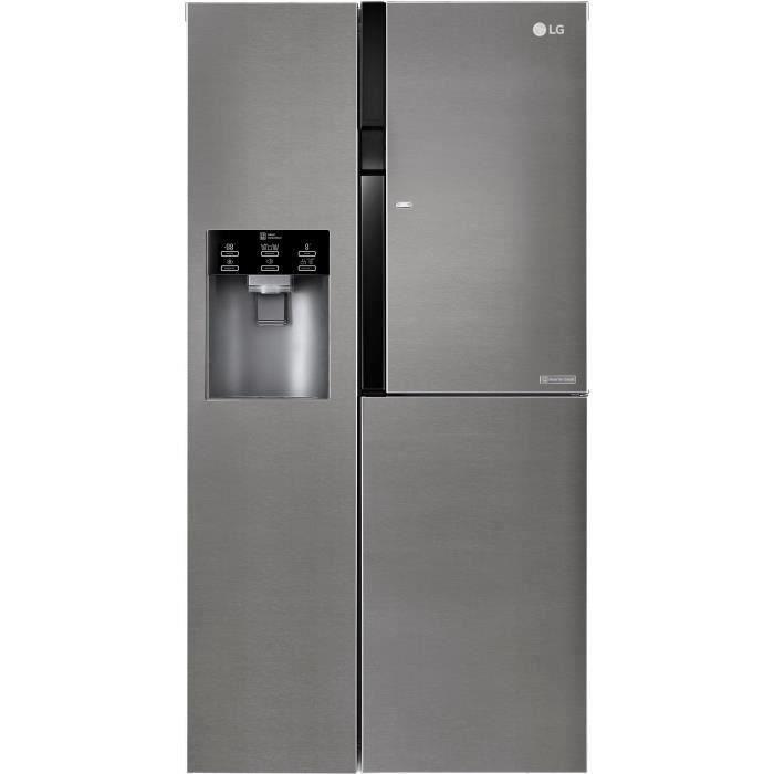 LG GSJ361DIDV - Réfrigérateur congélateur US Eau'tonome - 591L (394+197) - Froid ventilé - A+ - L91,2cm x H179cm - Inox