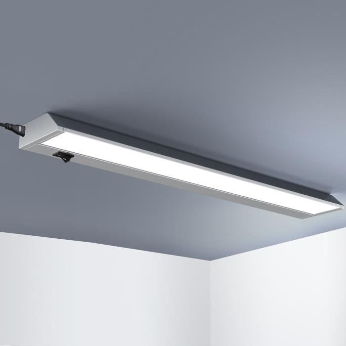 Réglette lumineuse orientable à LED 10W • blanc neutre • 579x78x35mm • modèle L-Eldhús- • barre lumineuse • plafonnier cuisine