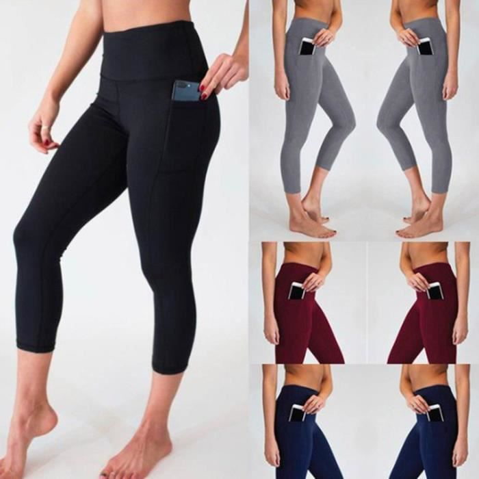 Yoga Sports Fitness Pantalon de COMPRESSION - LEGGING DE COMPRESSION - COLLANT DE COMPRESSION - CORSAIRE DE COMPRESSION