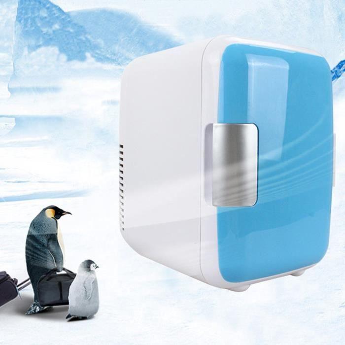 Congélateur Réfrigérateur mini frigo 4L Utilisation chaude et froide - bleu