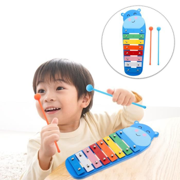 Instruments de percussion Toddle Kid Percussion xylophone avec plaque à 8 notes CASQUE AUDIO ENFANT