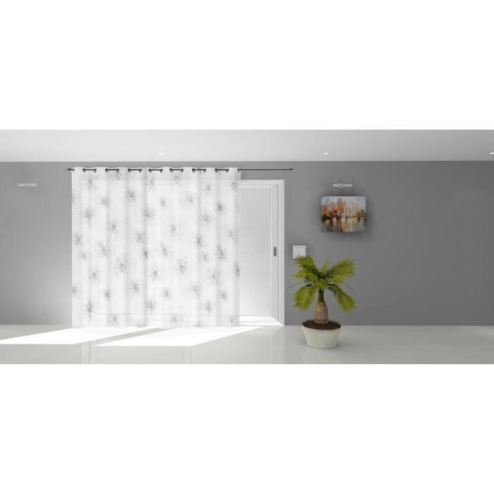 SOLEIL D'OCRE Voilage à oeillets Lionel - 280 x 250 cm - Blanc