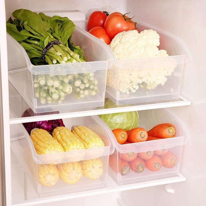 boite de rangement bac de rangement cuisine refrigerateur boite de rangement transparent boite verte boite de rangement