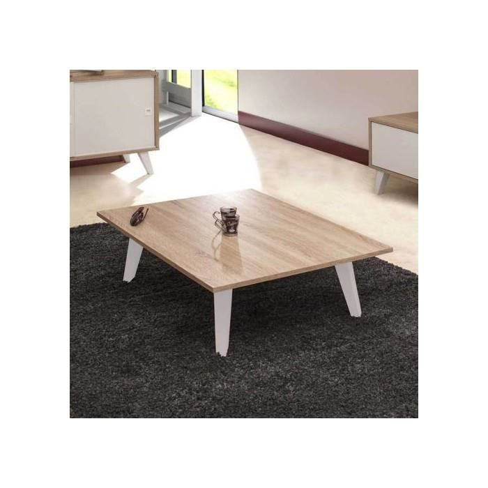 table basse pieds inclines blanc chene achat vente table basse table basse pieds inclines. Black Bedroom Furniture Sets. Home Design Ideas