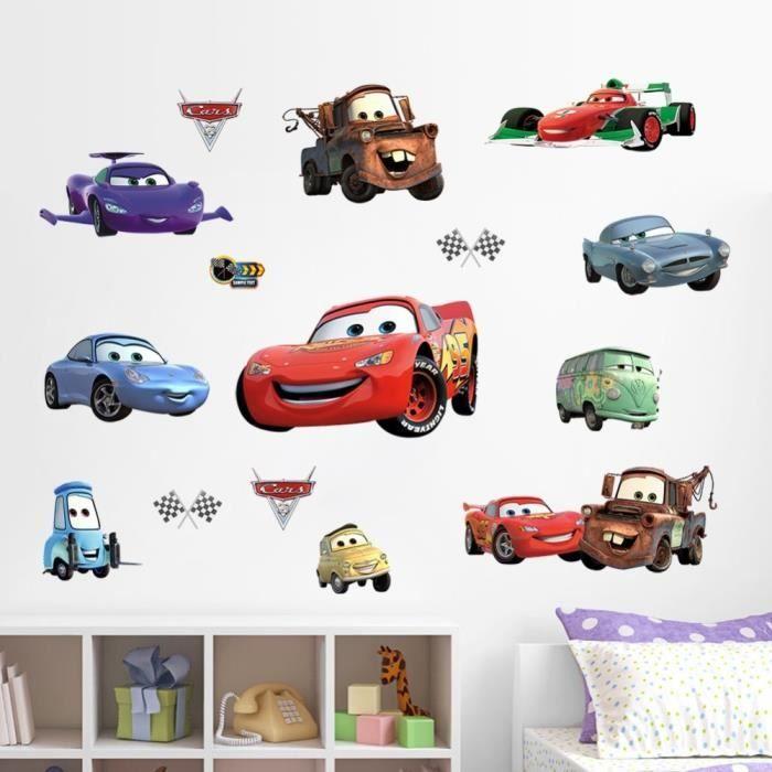 La chambre de voiture stickers muraux garçon décorations art ...