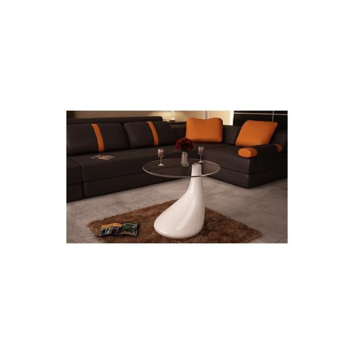 Table basse de salon blanche achat vente table basse table basse de salon - Table basse de salon blanche ...