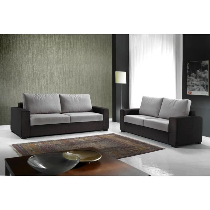 Canap lounge finition beige version 2 places achat for Canape beige