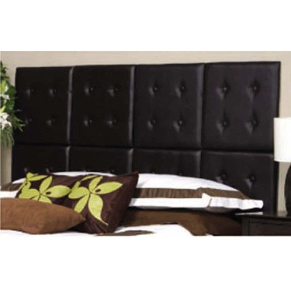 t te de lit matelass e chocolat modulable en pu moncornerdeco. Black Bedroom Furniture Sets. Home Design Ideas