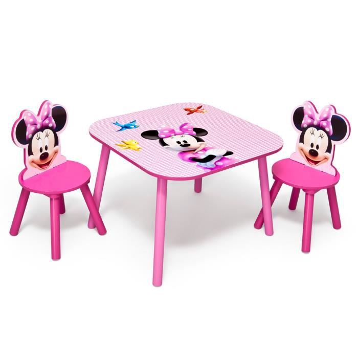 Minnie table enfant 2 chaises achat vente table jouet d 39 activit - Cdiscount table chaise ...