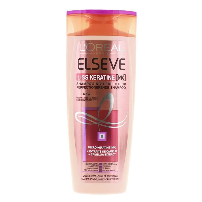 elseve shampooing 250 ml liss keratine perfecteur soins des cheveux achat vente shampoing. Black Bedroom Furniture Sets. Home Design Ideas