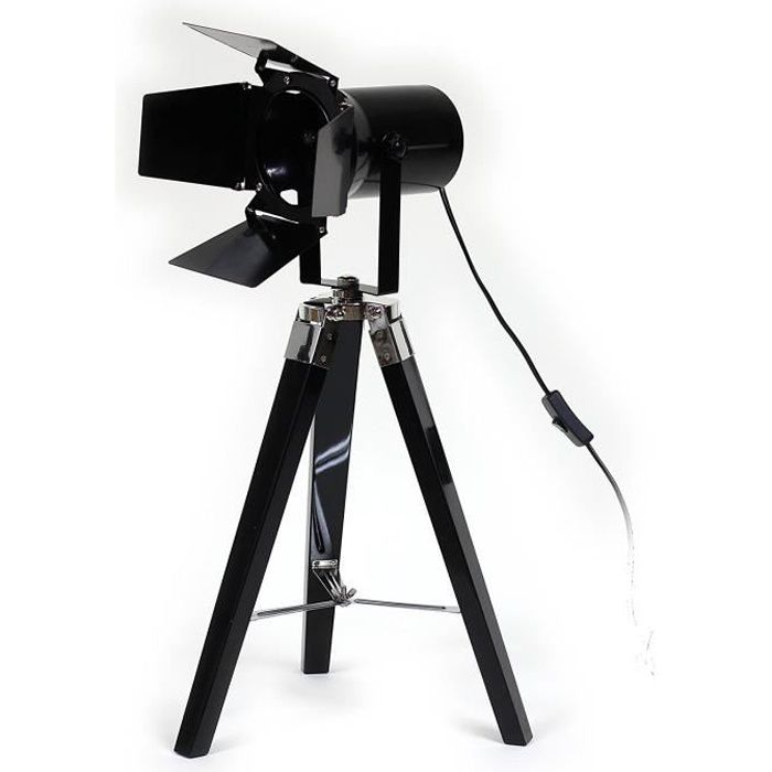 lampe projecteur cinema noire achat vente lampe. Black Bedroom Furniture Sets. Home Design Ideas