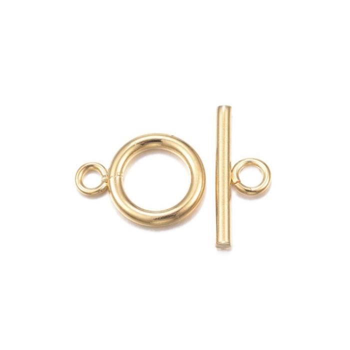 10 Fermoirs Toggles Fermoirs T bronze 16mm Neuf