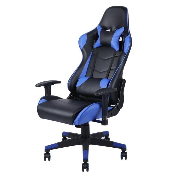 CHAISE DE BUREAU Fauteuil gamer Chaise de bureau inclinable 150°rég
