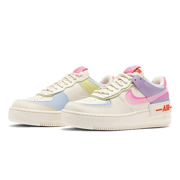 Air Force 1 Shadow Chaussures Baskets Airforce One pour Femme Rose ...