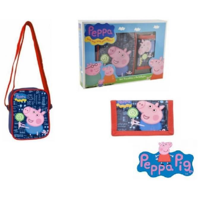 coffret cadeau enfants sacoche sac bandouli re george pig. Black Bedroom Furniture Sets. Home Design Ideas