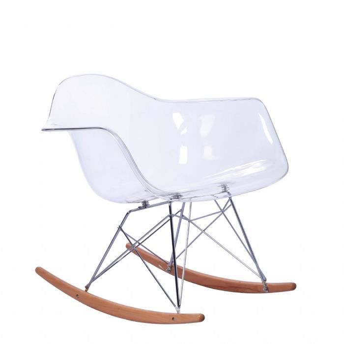 Chaise a bascule tower arms clear edition transparent for Chaise a bascule blanche