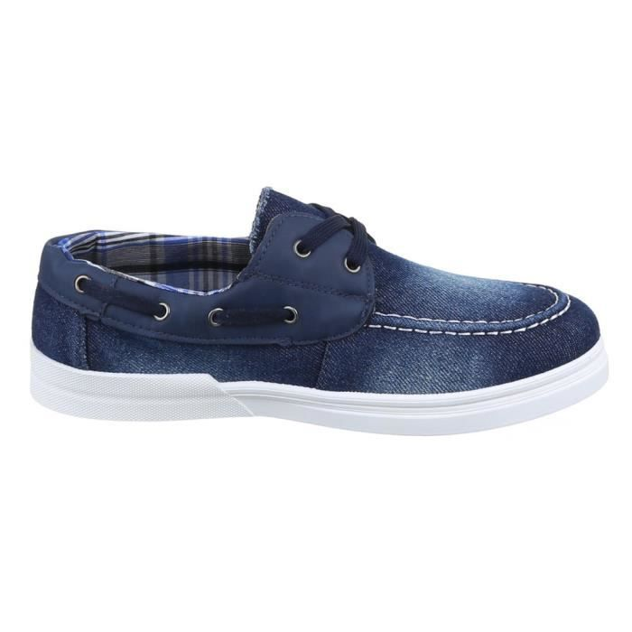 homme chaussures flâneurs loisirs chaussures Slipper Used optique bleu 43